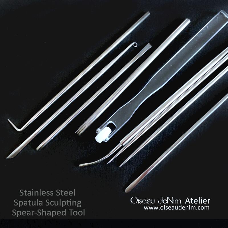 Spatula Sculpting Spear-Shaped Tool